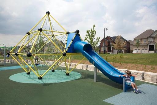 Playground slides also helps to promote social development as children