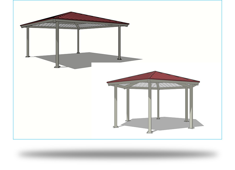 Square and Hexagon Shelters